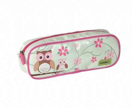 Barrel Pencil Case - Owls
